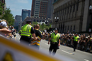 June 18, 2011, Boston, MA Police cuff a Bruins fan prior to the parade begining. Photo by Lathan Goumas