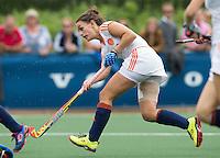 BREDA - Kiki van Wijk tijdens de finale van het Volvo Invitatie Toernooi U21 tussen de vrouwen van Nederland (Jong Oranje)  en China (5-1) . COPYRIGHT KOEN SUYK