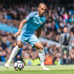 Manchester City midfielder Fernandinho (25) on the ball in the English Premier League match between Manchester City and Crystal Palace<br /> (c) John Baguley | SportPix.org.uk