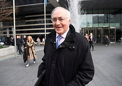 © Licensed to London News Pictures. 10/12/2018. London, UK. Conservative Lord MICHAEL HOWARD is questioned by media as she leaves a Conservative Friends of Israel event in central London. Mrs May is expected to call off tomorrows withdrawal agreement vote when she speaks in the House of Commons later. Photo credit: Ben Cawthra/LNP