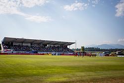 Players during football match between NK Triglav Kranj and NK Olimpija Ljubljana in 4th Round of Prva liga Telekom Slovenije 2017/18, on August 5, 2017 in Dravograd, Slovenia. Photo by Ziga Zupan / Sportida