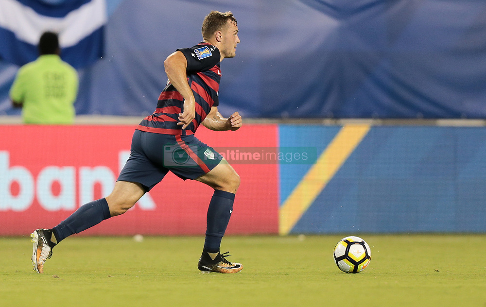 July 19, 2017 - Philadelphia, PA, USA - Philadelphia, PA - Wednesday July 19, 2017: Jordan Morris during a 2017 Gold Cup match between the men's national teams of the United States (USA) and El Salvador (SLV) at Lincoln Financial Field. (Credit Image: © John Dorton/ISIPhotos via ZUMA Wire)