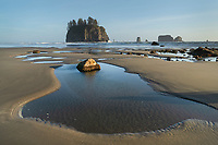 Low tide at Second Beach, Olympic National Park, La Push Washington