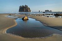 Low tide at Second Beach, Olympic National Park, La Push Washington