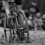 Sand sections in cyclocross venues play a significant role in shaping the race outcome, as racers struggle to maintain power, or even a straight line. Louisville's Eva Bandman Park features several hundred yards of sand that will provide spectators excellent viewing of decisive race action.