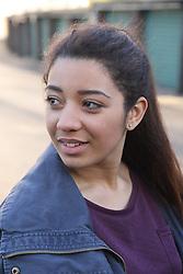 Teenage girl smiling