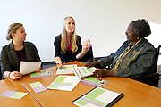 Amanda Novak, Golden Fanning and Carolyn Bailey-Lewis of Women in Philanthropy.
