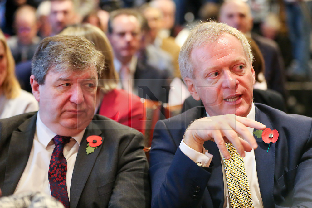 © Licensed to London News Pictures. 05/11/2019. London, UK. Liberal Democrat Party Chief Whip ALLISTAIR CARMUCHAEL (L) and Liberal Democrat MP for Bracknell PHILLIP LEE (R) at thelaunch of Liberal Democrat general election campaign in Westminster.A general election will be held on 12 December 2019.Photo credit: Dinendra Haria/LNP