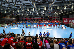 The players and view of arena during handball match between RK Krim Mercator and HC Podravka Vegeta in Group Matches of Women's EHF Champions League 2018/19, on November 3, 2018 in Kodeljevo, Ljubljana, Slovenia. Photo by Matic Klansek Velej / Sportida