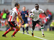 Sadio Mane of Liverpool and Inigo Lekue of Athletic Bilbao during the Pre-season Friendly match at the Aviva Stadium, Dublin<br /> Picture by Yannis Halas/Focus Images Ltd +353 8725 82019<br /> 05/08/2017