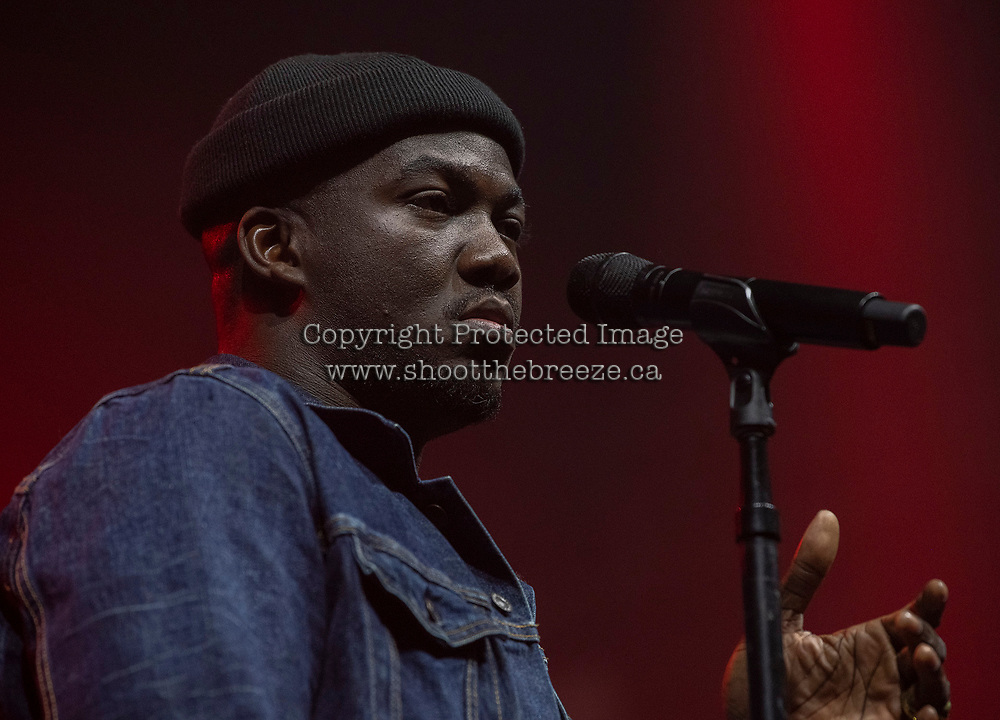 KELOWNA, BC - NOVEMBER 10:  Jacob Banks and band open the stage for City and Colour at Prospera Place on November 10, 2019 in Kelowna, Canada. (Photo by Marissa Baecker/Shoot the Breeze)