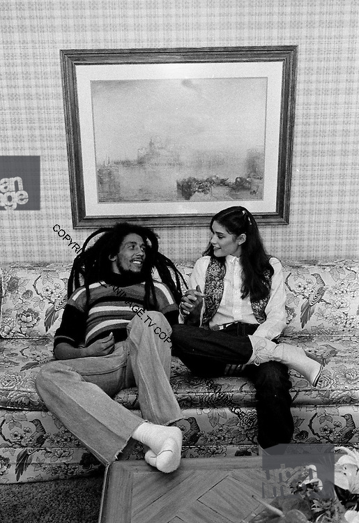Bob with Cindy Breakspeare at the Essex House Hotel
