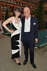 NICHOLAS COLERIDGE and his wife GEORGIA COLERIDGE at the V&A Summer Party in association with Harrod's held at The V&A Museum, London on 22nd June 2016.