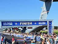 WRIGHT-PATTERSON AIR FORCE BASE, Ohio –<br /> Partly cloudy skies and warm temperatures welcomed approximately 13,500 runners and walkers from all 50 states and 16 foreign countries<br /> to take part in the 21st annual U.S. Air Force Marathon at the National Museum of the U.S. Air Force at Wright-Patterson Air Force Base Sept. 16.
