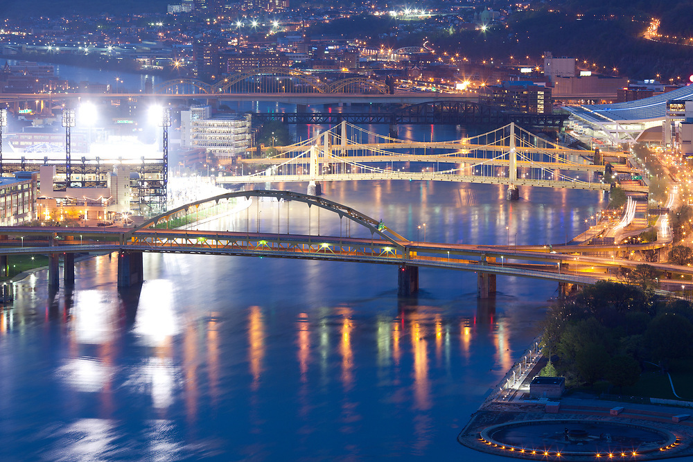 Bridges over the Allegheny River, Pittsburgh, Pennsylvania, USA
