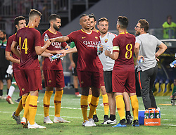July 20, 2018 - Frosinone, Lazio, Italy - AS Roma players during the Pre-Season Friendly match between AS Roma and Avellino at Stadio Benito Stirpe on July 20, 2018 in Frosinone, Italy. (Credit Image: © Silvia Lore/NurPhoto via ZUMA Press)
