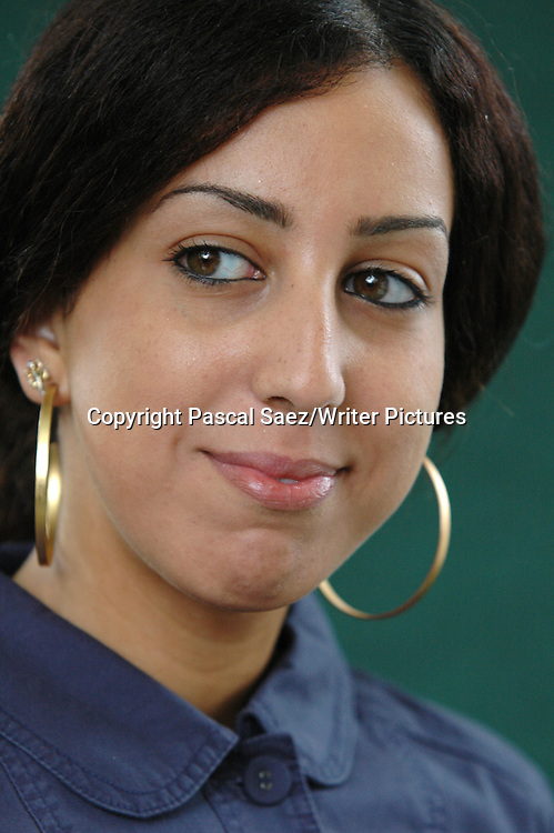 French writer Faiza Guene at the Edinburgh International Book Festival.<br /> <br /> Copyright Pascal Saez/Writer Pictures<br /> <br /> contact +44 (0)20 8241 0039<br /> sales@writerpictures.com<br /> www.writerpictures.com