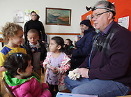 Middletown, New York - Dentist Thomas Littner examines children's teeth at Western Orange County Head Start on Nov. 30, 2012. Head Start is a federally-funded program for preschool children ages 3-5 from low-income families. Dr. Littner volunteers his time to do dental screenings.