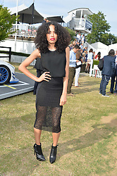 JADE McEWAN at the Laureus Polo held at Ham Polo Club, Ham, Richmond, Surrey on 18th June 2015.