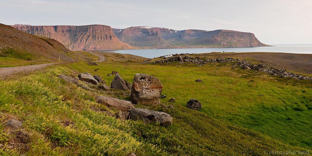 Horft frá Gerðhamradal út á Dýrafjörð.