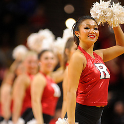 The Rutgers dance team performs during the second half of Rutgers men's basketball vs Temple Owls in American Athletic Conference play on Jan. 1, 2014 at Rutgers Louis Brown Athletic Center in Piscataway, New Jersey.