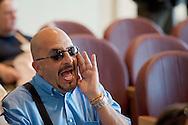 Roma, 21 Giugno  2012.Consiglio comunale in Campidoglio nell'aula Giulio Cesare per  la discussione sulla  cessione del 21% della controllata Acea, l'azienda che si occupa di acqua e servizi. Marco Miccoli, segretario del Pd Roma urla contro  la presidenza