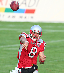 27.07.2010, Wetzlar Stadion, Wetzlar, GER, Football EM 2010, Team Austria vs Team Finland, im Bild Pass von Christoph Gross, (Team Austria, QB, #8) ,  EXPA Pictures © 2010, PhotoCredit: EXPA/ T. Haumer