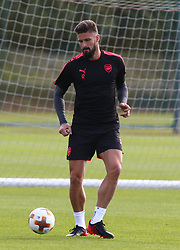 September 13, 2017 - London, England, United Kingdom - Arsenal's Olivier Giroud.during a Arsenal training session ahead of the UEFA Europa League Group H match against 1. FC Kln at Arsenal training centre , London Colney on 13 Sep  2017 St.Albans, England  (Credit Image: © Kieran Galvin/NurPhoto via ZUMA Press)