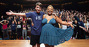 West End Stage celebrates its milestone 10,000th student<br /> with a special visit from Marisha Wallace<br /> star of multi-award winning West End musical Dreamgirls <br /> at Guildhall School of Music, London, Great Britain <br /> 17th August 2018 <br /> <br /> Marisha Wallace who plays <br /> the role of Effie White in Dreamgirls (Right)<br /> with Charlie Plumridge (age 15) from Hereford the school&rsquo;s 10,000th student (left)<br /> <br /> In summer 2006, West End Stage began in a bid to become the UK&rsquo;s leading theatre summer school.&nbsp;Its aim was, and still is, to ignite a global passion for theatre, uniting young people from all over the world. Throughout the week-long course led by West End stars,&nbsp;the students&nbsp; take part in in an exciting mix of drama, singing and dance classes, as well as enjoying an inspirational trip to a West End musical. The highlight of every student&rsquo;s week is the chance to make their own West End debut at Her Majesty&rsquo;s Theatre, the world-famous home of The Phantom of the Opera, in front of a huge audience of family, friends and industry professionals.<br /> <br /> Mark Puddle, Founder and Chief Executive of West End Stage, said &ldquo;I am absolutely delighted that Marisha could join us direct from the West End to celebrate the 10,000 students who have enjoyed once-in-a-lifetime opportunities at the summer school, making friends for life along the way. The course is going from strength to strength, thanks to the hard work and passion of our teachers, staff and supporters who work tirelessly to ensure a safe and exciting experience.&rdquo;<br /> <br /> Photograph by Elliott Franks