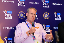 December 18, 2018 - Jaipur, Rajasthan, India - Sunrisers Hyderabad coach Tom Moody  speak at a press conference for the Indian Premier League 2019 auction in Jaipur on December 18, 2018, as teams prepare their player rosters ahead of the upcoming Twenty20 cricket tournament next year. The 2019 edition of the IPL -- one of the world's most-watched sporting events attracting the world's top stars -- is set to take place in April and May next year.(Photo By Vishal Bhatnagar/NurPhoto) (Credit Image: © Vishal Bhatnagar/NurPhoto via ZUMA Press)