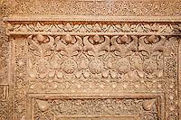 Iran, province d'Ispahan, Ispahan, Mosquée du Vendredi, classée Patrimoine Mondial de l'UNESCO, mihrab en stuc // Iran, Isfahan, Friday mosque, world heritage of the UNESCO, stucco mihrab