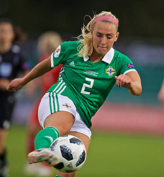 NEWPORT, WALES - Tuesday, September 3, 2019: Northern Ireland's Rachel Newborough during the UEFA Women Euro 2021 Qualifying Group C match between Wales and Northern Ireland at Rodney Parade. (Pic by David Rawcliffe/Propaganda)