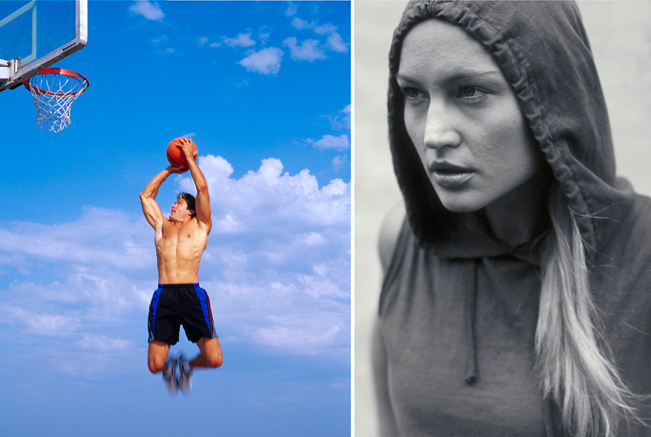 Jumpshot for Speedo and Portrait of female athelete
