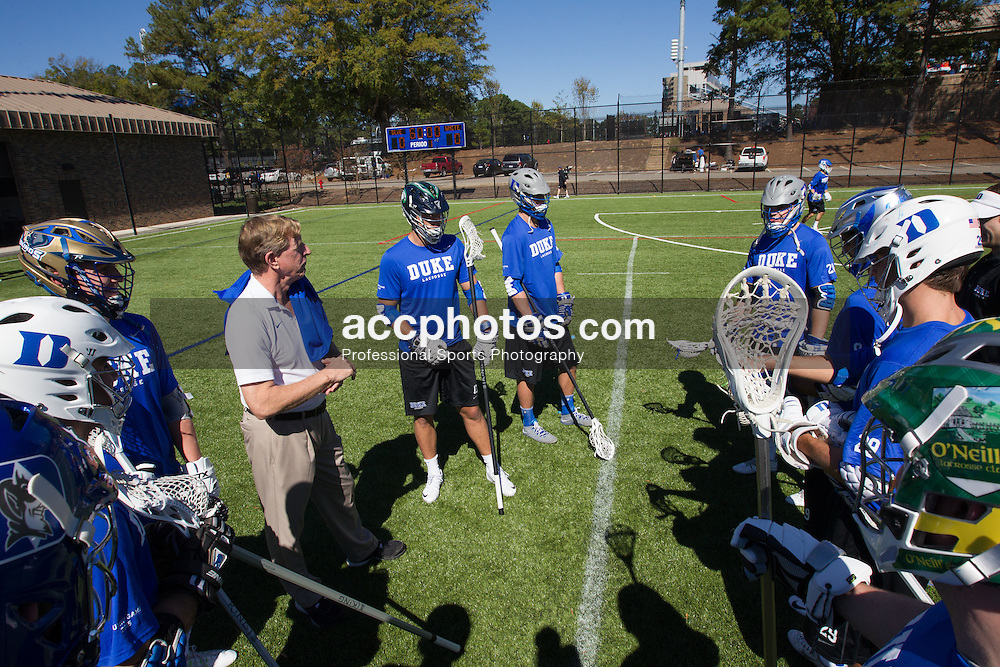 2015 October 17: Duke lacrosse alumni vs. varsity team annual game at Duke University in Durham, NC.<br /> <br /> Head coach John Danowski of Duke Blue Devils