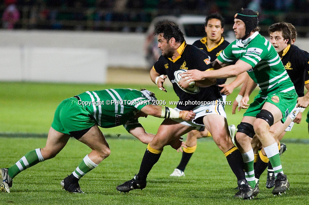 Wellington's Joe McDonnell during the Air New Zealand Cup week 6 rugby match between Manawatu and Wellington at FMG Stadium, Palmerston North, on Saturday 2 September 2006. Wellington won 11-3.  Photo: Aaron Smale/PHOTOSPORT<br /> <br /> <br /> 020906 npc nz union