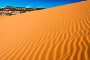 Morning light on dunes, Coral Pink Sand Dunes State Park, Kane County, Utah USA