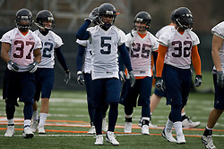 Virginia Cavaliers TB Mikell Simpson (5)<br /> Virginia Cavaliers TB Cedric Peerman (37)<br /> Virginia Cavaliers FB Josh Zidenberg (25)<br /> Virginia Cavaliers TB Keith Payne (32)<br /> <br /> The Virginia Cavaliers football team opened their spring practice season on March 21, 2007 on the football practice fields behind University Hall in Charlottesville, VA.