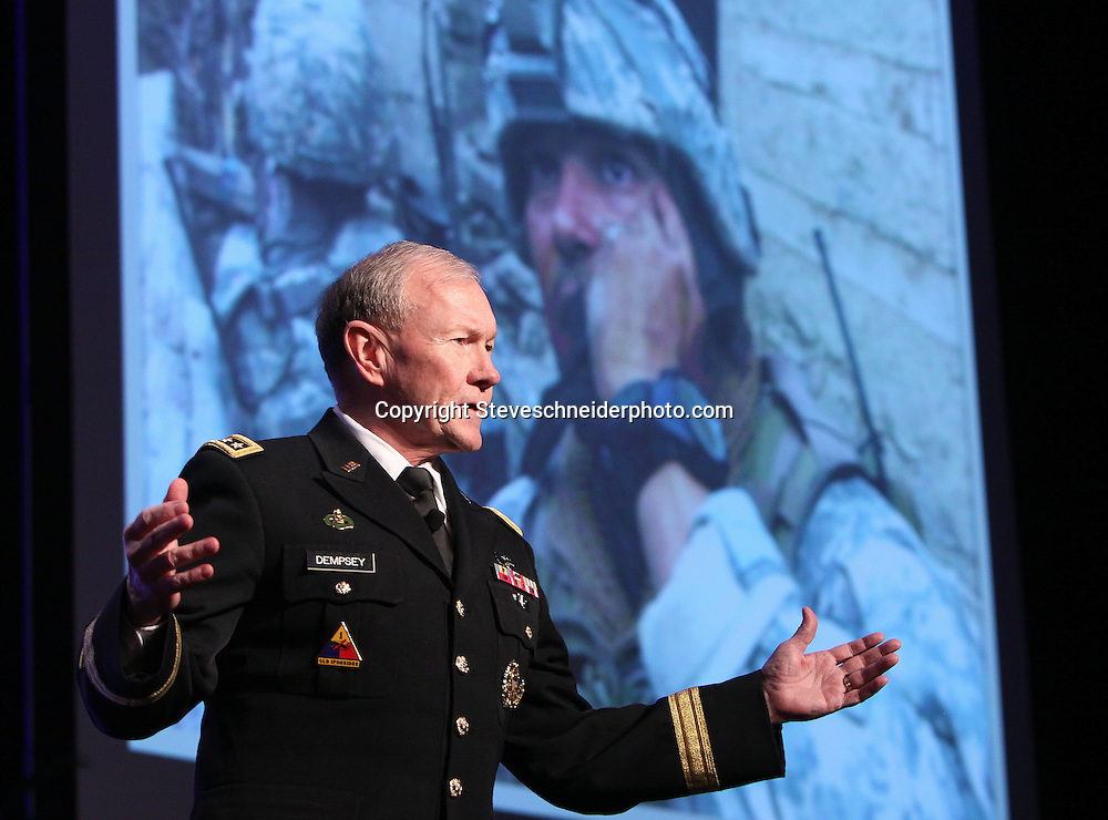 Army General Martin Dempsey, Chairman of the Joint Chiefs of Staff,speaks before members of the National League of Cities
