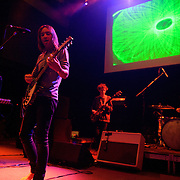 "WASHINGTON, DC - February 14th  2013 - Dominic Simper, Kevin Parker, Nick Allbrook and Julien Barbagallo of Tame Impala perform at the 9:30 Club in Washington, D.C.  The band's sophomore album, ""Lonerism,"" was released in October of 2012 and won numerous album of the year awards across the globe, including NME, Rolling Stone and Australia's Triple J radio. (Photo by Kyle Gustafson/For The Washington Post)"