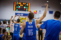 Smrekar Klemen of Slovenia during basketball match between National teams of Great Britain and Slovenia in the Quarter-Final of FIBA U18 European Championship 2019, on August 1, 2019 in Nea Ionia Hall, Volos, Greece. Photo by Vid Ponikvar / Sportida