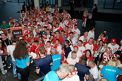 21-09-2019 NED: EC Volleyball 2019 Poland - Spain, Apeldoorn<br /> 1/8 final EC Volleyball / Polish fan, support