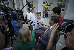 Rowan County Clerk Kim Davis did not return to work after being released from jail, Wednesday, Sept. 09, 2015 at Rowan County Courthouse in Morehead. <br /> <br /> Photo by Jonathan Palmer, Special to the CJ