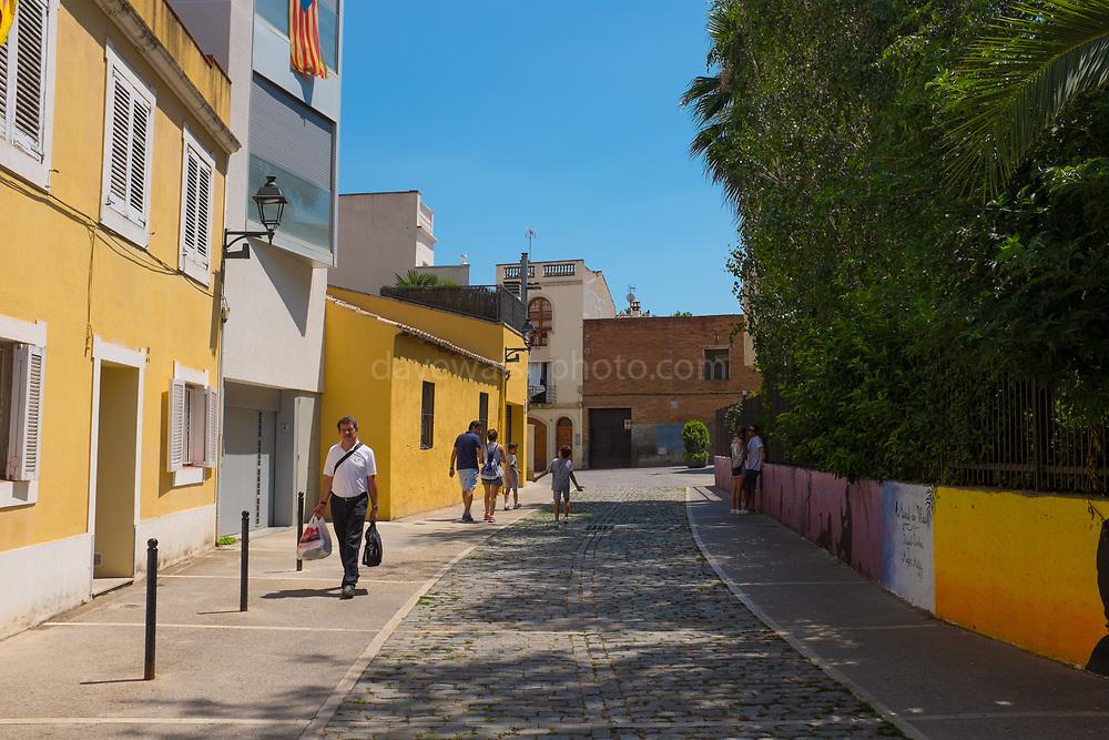 Carrer del Torrent de la Bomba, Sant Cugat del Valles, Barcelona, Catalonia, Spain