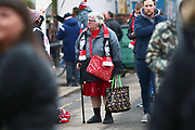 A Forest supporter wears her Nottingham Forest manager Martin O'Neill scarf during the EFL Sky Bet Championship match between Nottingham Forest and Bristol City at the City Ground, Nottingham, England on 19 January 2019.