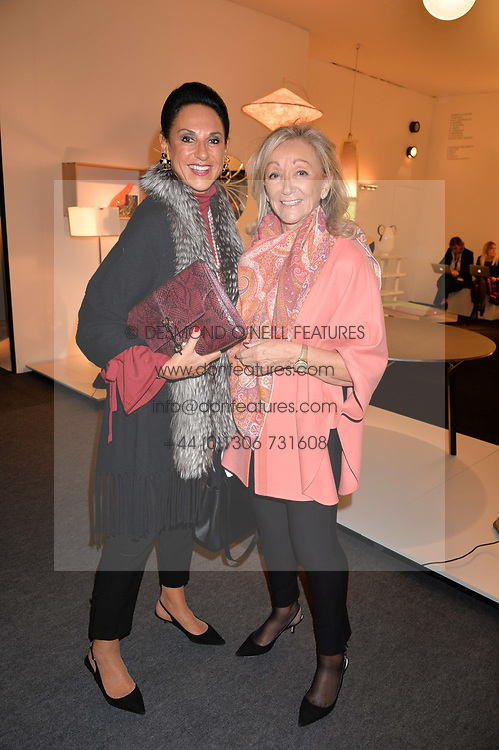 Dame Gail Ronson and Daphne Scheder-Bieschin at the 2017 PAD Collector's Preview, Berkeley Square, London, England. 02 October 2017.