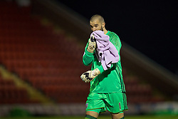 KIDDERMINSTER, ENGLAND - Tuesday, February 28, 2017: West Bromwich Albion's goalkeeper Boaz Myhill before the FA Premier League Cup Group G match against Liverpool at Aggborough Stadium. (Pic by David Rawcliffe/Propaganda)
