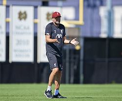 SOUTH BEND, INDIANA, USA - Thursday, July 18, 2019: Liverpool's manager Jürgen Klopp during a training session ahead of the friendly match against Borussia Dortmund at the Notre Dame Stadium on day three of the club's pre-season tour of America. (Pic by David Rawcliffe/Propaganda)