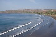 Panoramic view of Venao beach. Los Santos province, Azuero peninsula, Panama, Central America.