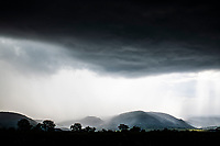 Thunderstorm passing over the rolling hills, Babanango Game Reserve, KwaZulu Natal, South Africa