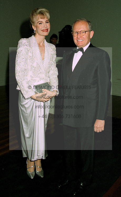 MRS DONATELLA FLICK and MR GILBERT DE BOTTON at a dinner in London on 1st July 1997.LZW 87